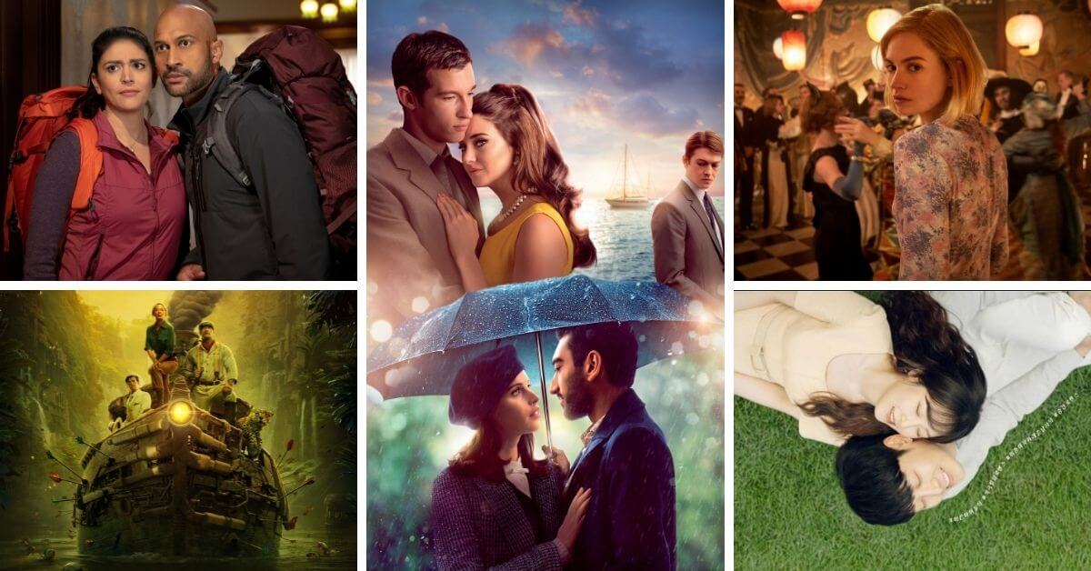 August 2021 Movie and TV Reviews Featured image; collage of movies/shows