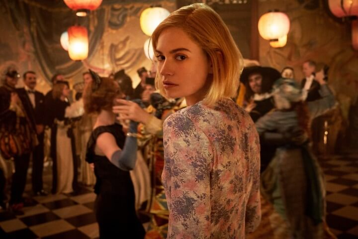 Rebecca with Lily James; publicity photo