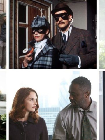 Romantic British Mystery Series featured image. Collage of shows.