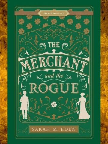 The Merchant and the Rogue Featured image with book cover and gold Victorian background