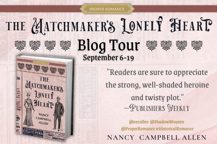 The Matchmaker's Lonely Heart Blog Tour Graphic