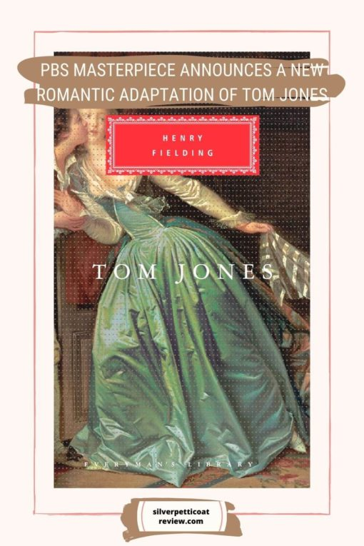 Tom Jones Book Adaptation; pinterest image with book cover