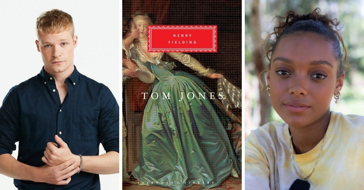 Tom Jones book - PBS adaptation; featured image with castmembers and book cover